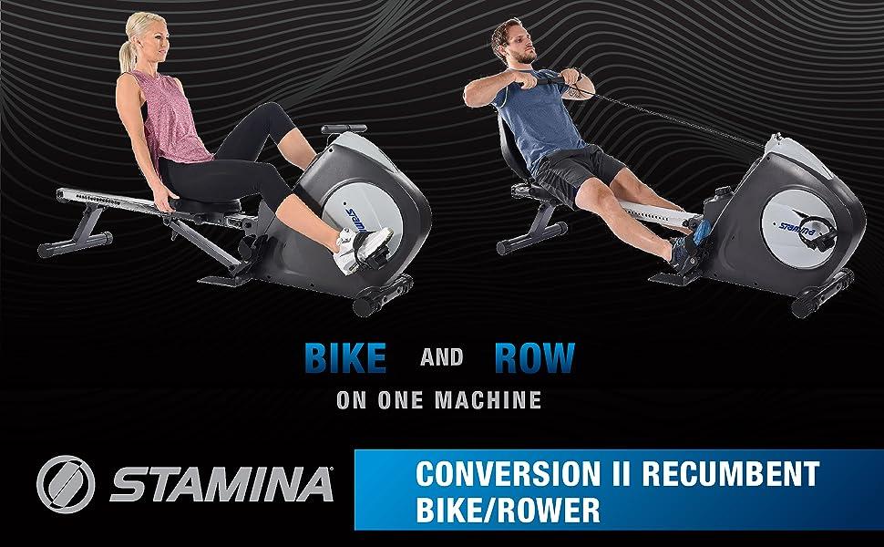 stamina conversion ii recumbent bike / rower