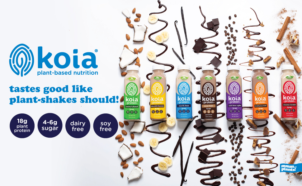 koia plant based non dairy free protein shake drinks
