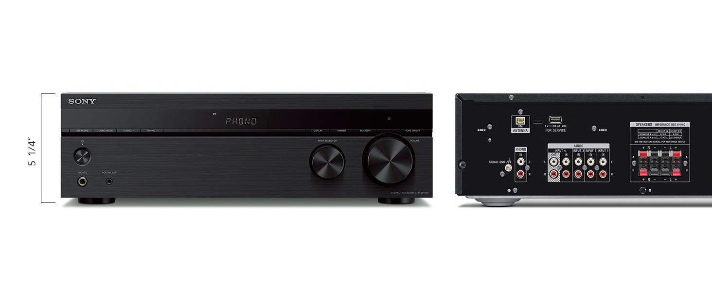 Amazon.com: Sony STRDH190 - Receptor estéreo de 2 canales ...