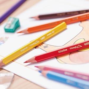 さんかく色鉛筆