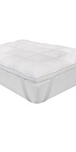 media durezza antiacaro, batteri e funghi Classic Blanc Topper // sovramaterasso in fibra Antiallergica letto singolo altezza 8 cm 90 x 200 Tutte le misure