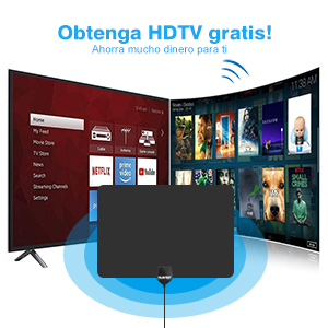 Cinati Antena de TV, Antena HDTV Digital de Interior de 130 ...