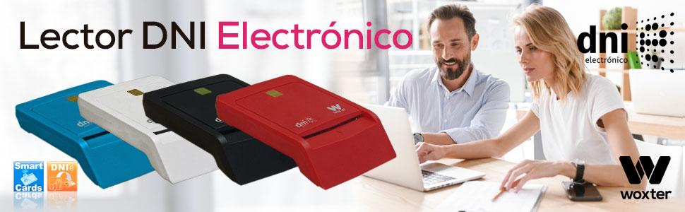 Woxter Lector DNI Electrónico Negro - Lector de DNI Electrónico Inteligente, DNI 3.0, Plug & Play, Compatible con PC y Mac: Amazon.es: Informática
