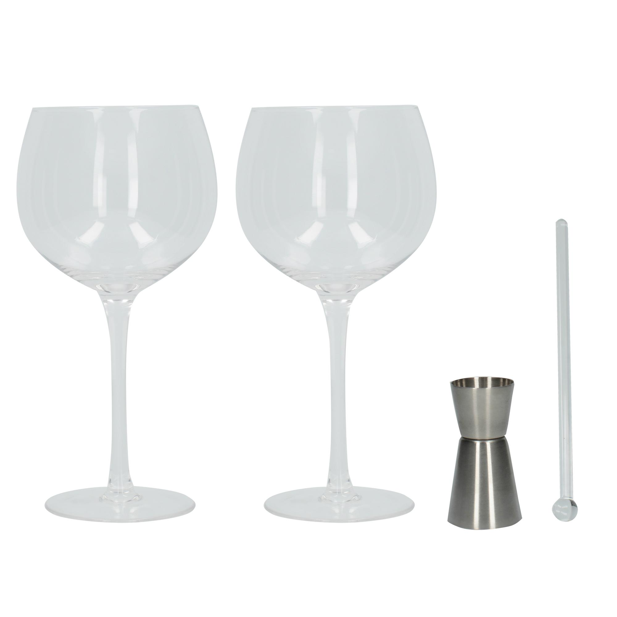 Creative Tops Mikasa Cheers Balloon Gin Copa Goblets Glasses set of 4
