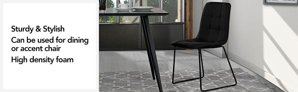 Amazon.com: Juego de 2 sillas de comedor, sillas de cocina ...