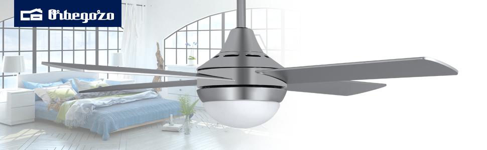 Orbegozo CP 91120 - Ventilador de techo con luz LED, mando a ...