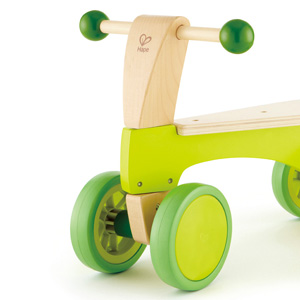 Rubber-rimmed wheels leave no scuffs on the floor