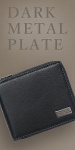 ダークメタルプレート R-ZIP 二つ折財布