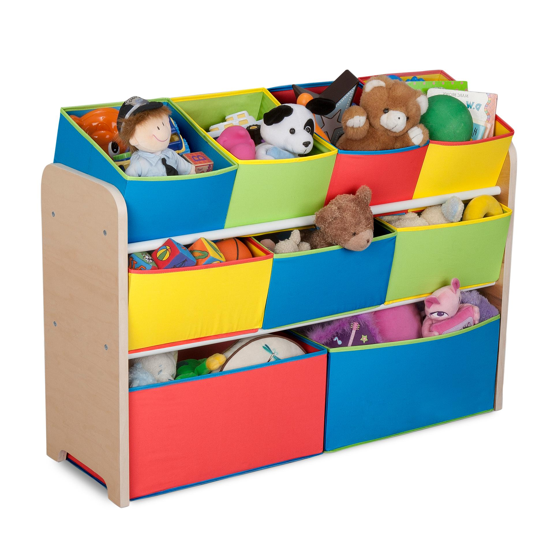 Amazon.com : Delta Children Deluxe Multi-Bin Toy Organizer with Storage Bins, Natural/Primary