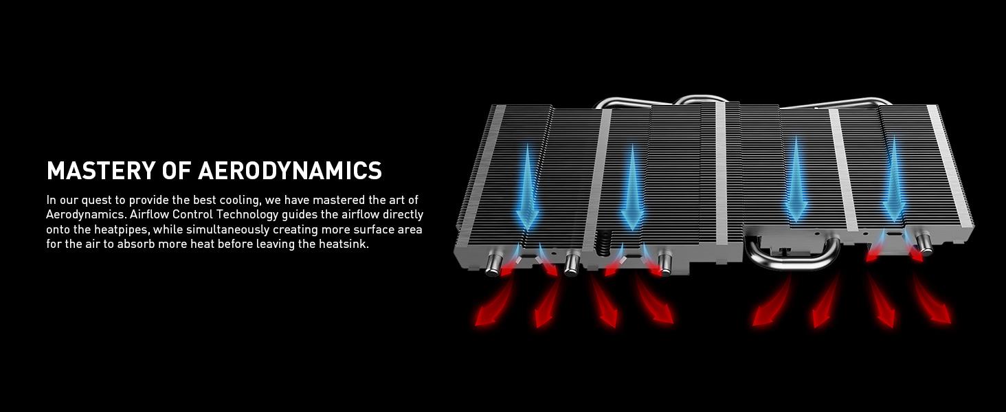 airflow cooling heatpipes heatsink