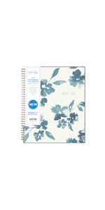 blue sky, bakah blue collection, academic planner, weekly, monthly, 2021-2022, 8.5x11