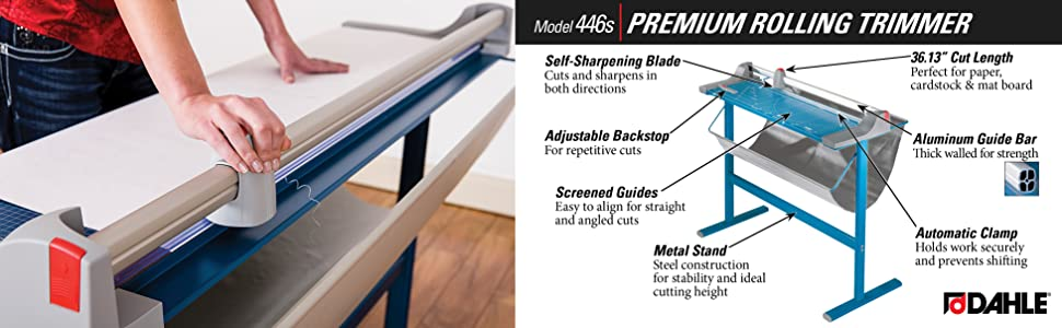 "Office PAPER CUTTER Trimmer Cut Legal Size BIG 12/"" x 16/"" Metal Construction NEW"