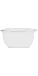 Karat 32oz PET Tamper Resistant Hinged Salad Bowl with Dome Lid