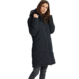 women winter long goose down jacket warm comfort insulated water resistant