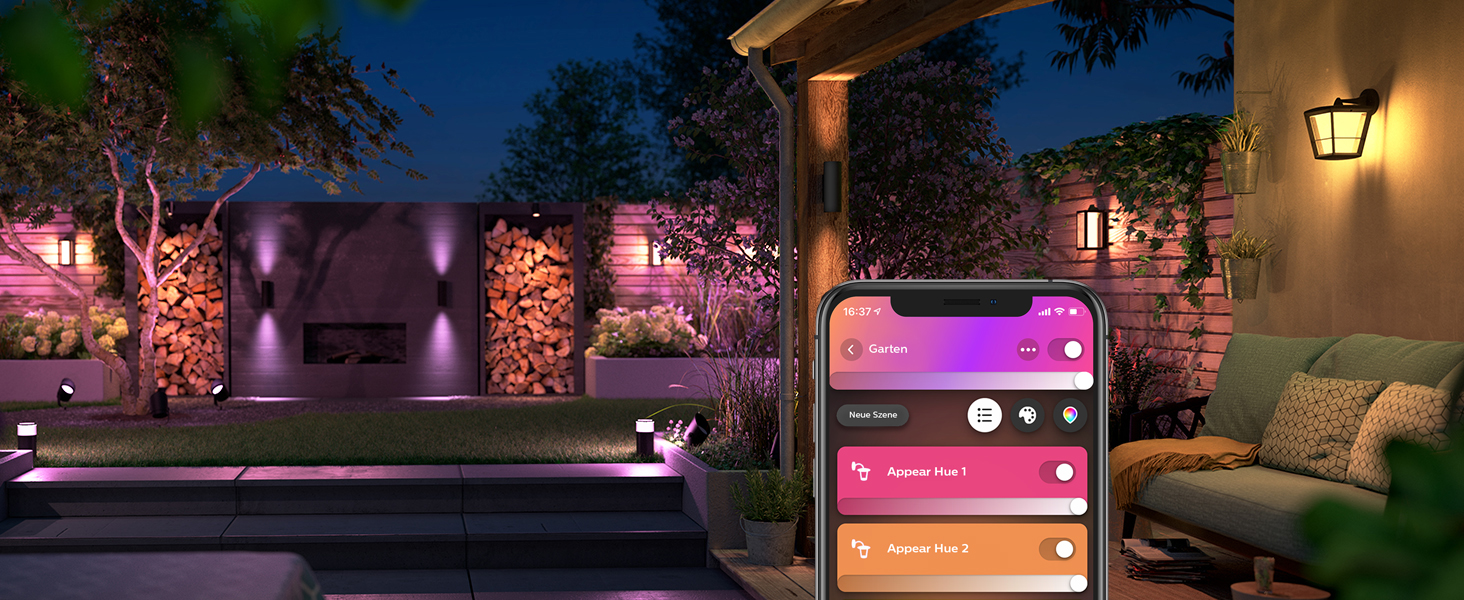 Philips Hue Outdoor, Luces de exterior de color