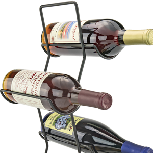 4 Bottle Wine Rack/Tree, Black Iron