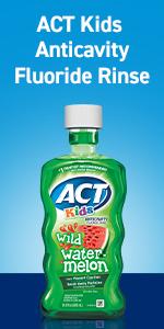Fluoride rinse for children.