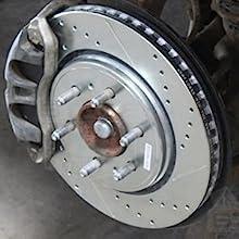 REAR SET Z0233 Performance Cross Drilled Brake Rotors /& Ceramic Pads