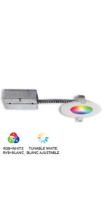 "4"" Smart WiFi RGB LED Recessed Light Fixture"