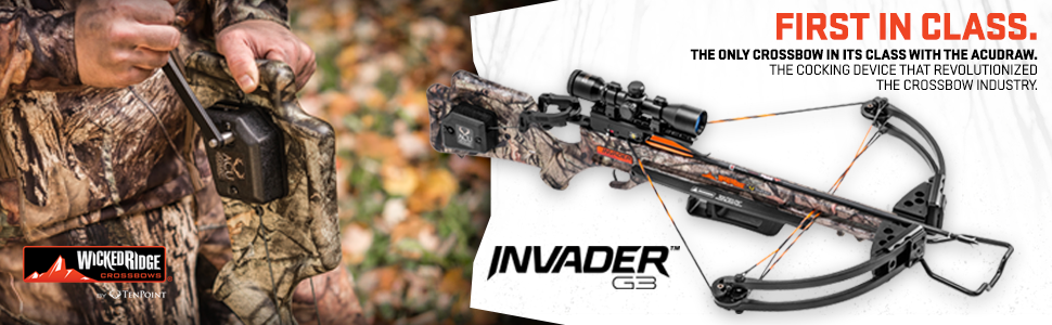 wicked ridge, invader g3, quality crossbow, tenpoint, crossbow value, cheap crossbow, acudraw