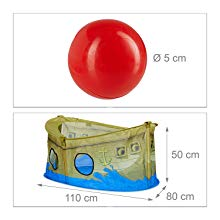 Piscina bolas plegable con 50 bolas