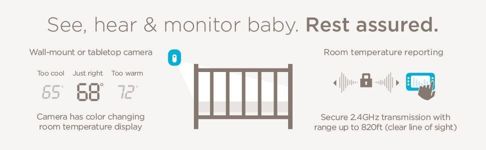 "Amazon.com: Angelcare Baby Video Monitor, 4.3"" ..."