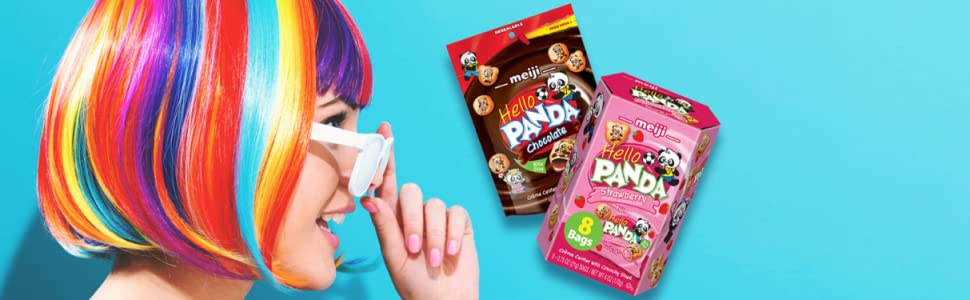 meiji hello panda cookie crunch snacks with chocolate creme filling snack time kids and families