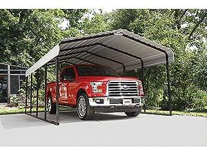 Amazon.com: Arrow 12' x 20' x 7' 29-Gauge Carport with ...