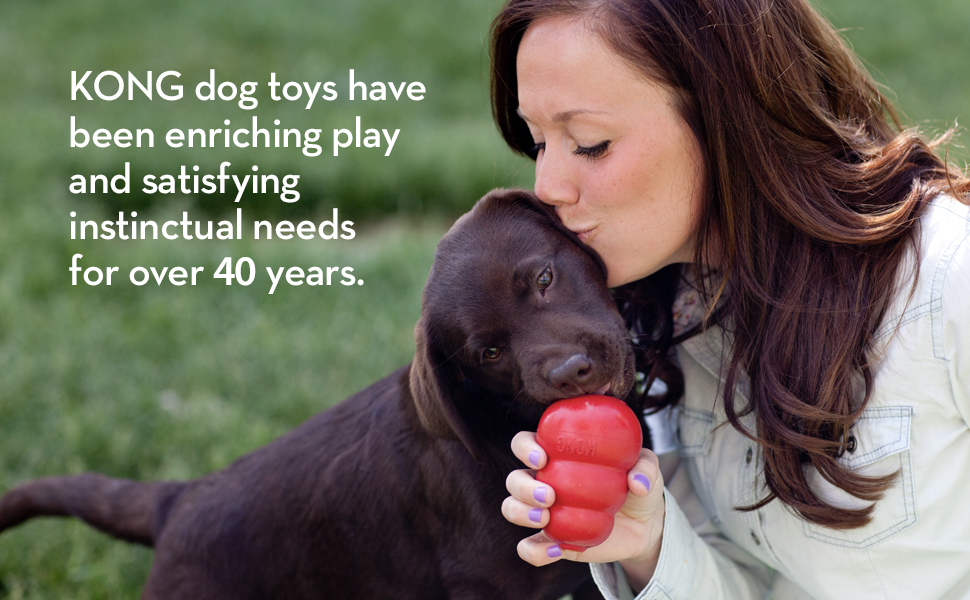 KONG dog toys have been enriching play and satisfying instinctual needs for over 40 years