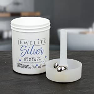 Jewelite Silver Jewelry Cleaner cleans sterling silver jewelry removes tarnish from silver jewelry