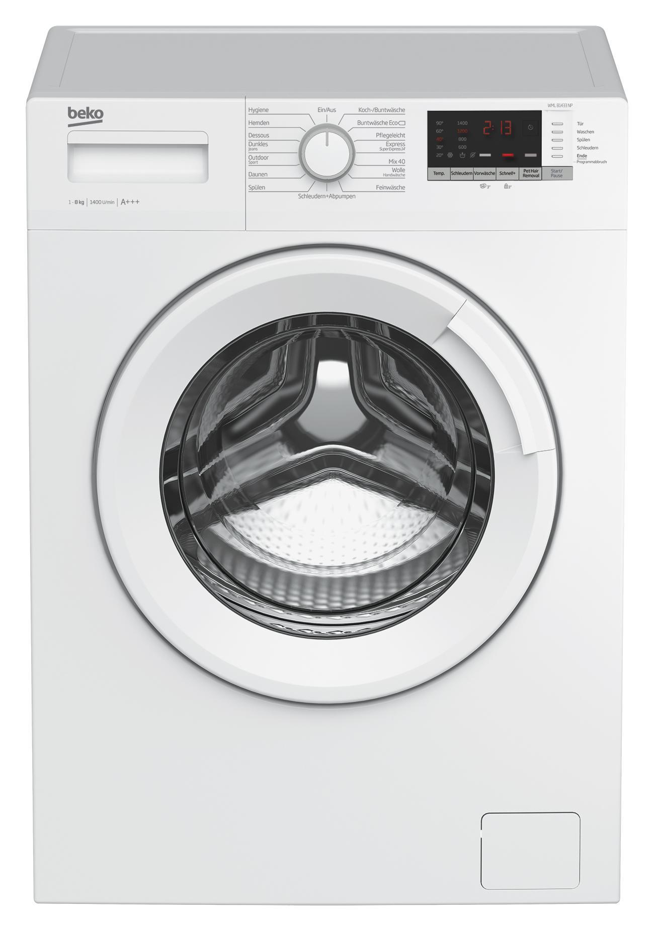 beko wml 81433 np waschmaschine frontlader a 1400 upm. Black Bedroom Furniture Sets. Home Design Ideas
