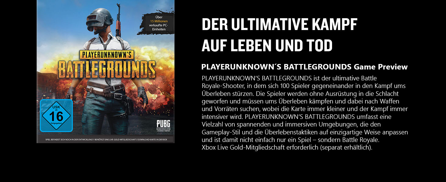 Xbox One PUBG Playerunknowns Battlegrounds Game Der ultimative Kampf auf Leben und Tod