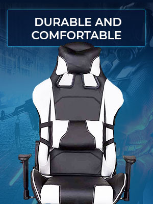 High Back Pc Gaming Chair With Caster Wheels