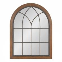 window wall mirror church window pane rustic farmhouse shabby-chic