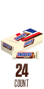 SNICKERS Almond Full Size Candy Bars – 24-Count Box