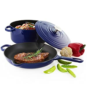 cast iron cooking dutch oven enamel lid soup pot gravity cast induction ergonomic handle design