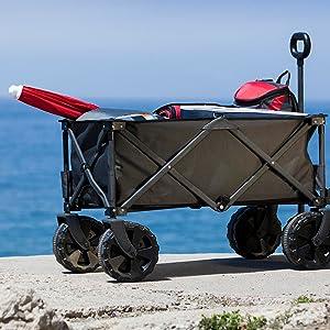 wagon, beach wagon,
