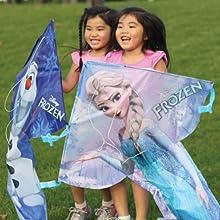 Wind N Sun - Two Girls Holding the BreezyFliers Frozen Kites
