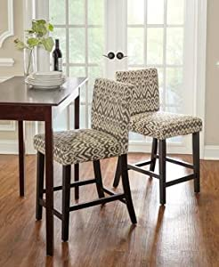 Amazon Com Linon Home Decor Counter Height Morocco Stool