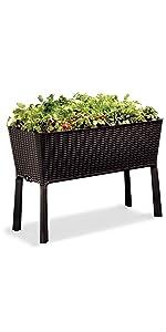 easy grow elevated garden bed planter box