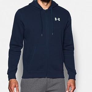 Sweat à capuche UA Rival Fleece Fitted Full Zip pour homme