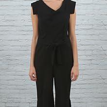 jumpsuit modern women contemporary fashion logo dress wear to park party city wardrobe ootd