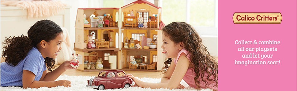 calico critters red roof country home gift set calico critters red roof cozy cottage dolls toys