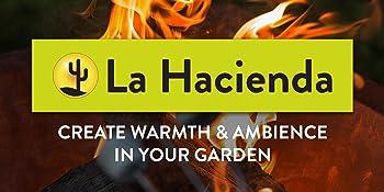 La Hacienda brand logo product outdoor heating chimenea family Murcia grill cooking outdoor patio