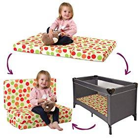 new styles 3124a 013ca Clevamama Foam 3 in 1 Travel Cot Mattress, Play Mat and Seat (ClevaFoam,  95x65 cm)
