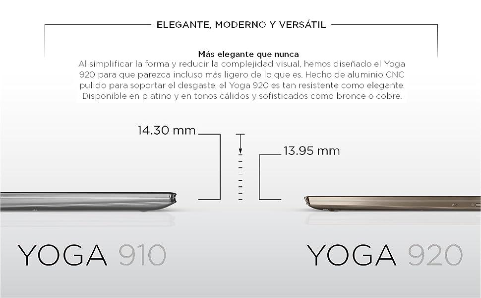 Lenovo Yoga 920-13IKB - Ordenador portátil convertible de 13,9 ...
