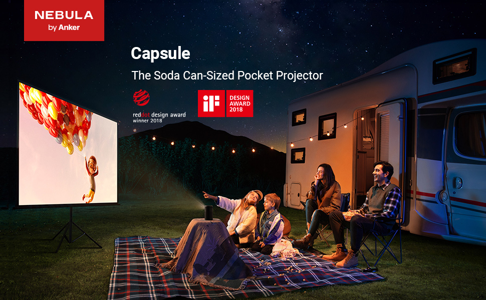 The Soda Can-Sized Pocket Projector