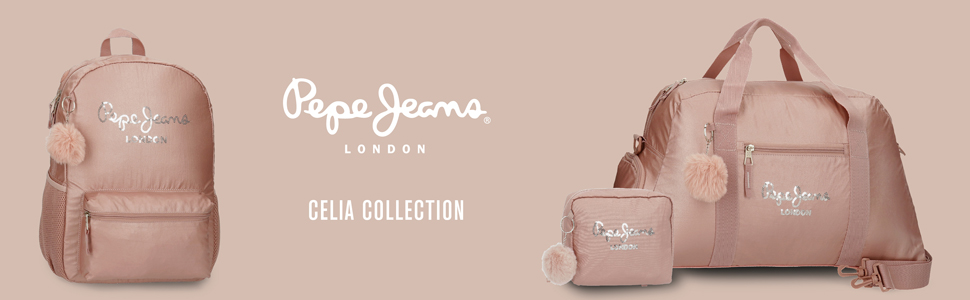 mochila escolar rosa pepe jeans