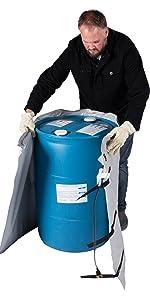 drum heater, drum heaters, drum heating blanket, band heater, barrel heater, barrel heaters