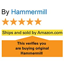 "5 star rating and the words: look for ""ships and sold by Amazon"" ensure original Hammermill paper."